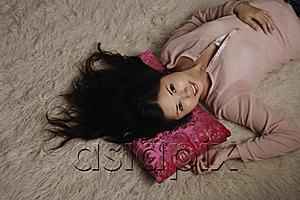 AsiaPix - Chinese woman laying on rug