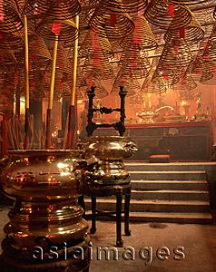 Asia Images Group - China, Hong Kong, Hollywood Road, inside Man Mo Temple