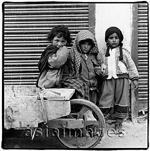 Asia Images Group - India, Ladakh, Leh, Portrait of young children.
