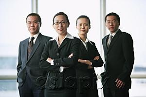 AsiaPix - Executives looking at camera, portrait
