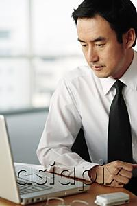 AsiaPix - Businessman looking at laptop