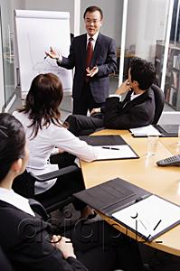 AsiaPix - Businessman presenting to colleagues